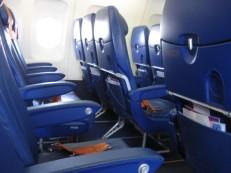 Een vliegtuig voor mezelf alleen. Blijkbaar blijven wel meer mensen in Moskou hangen!